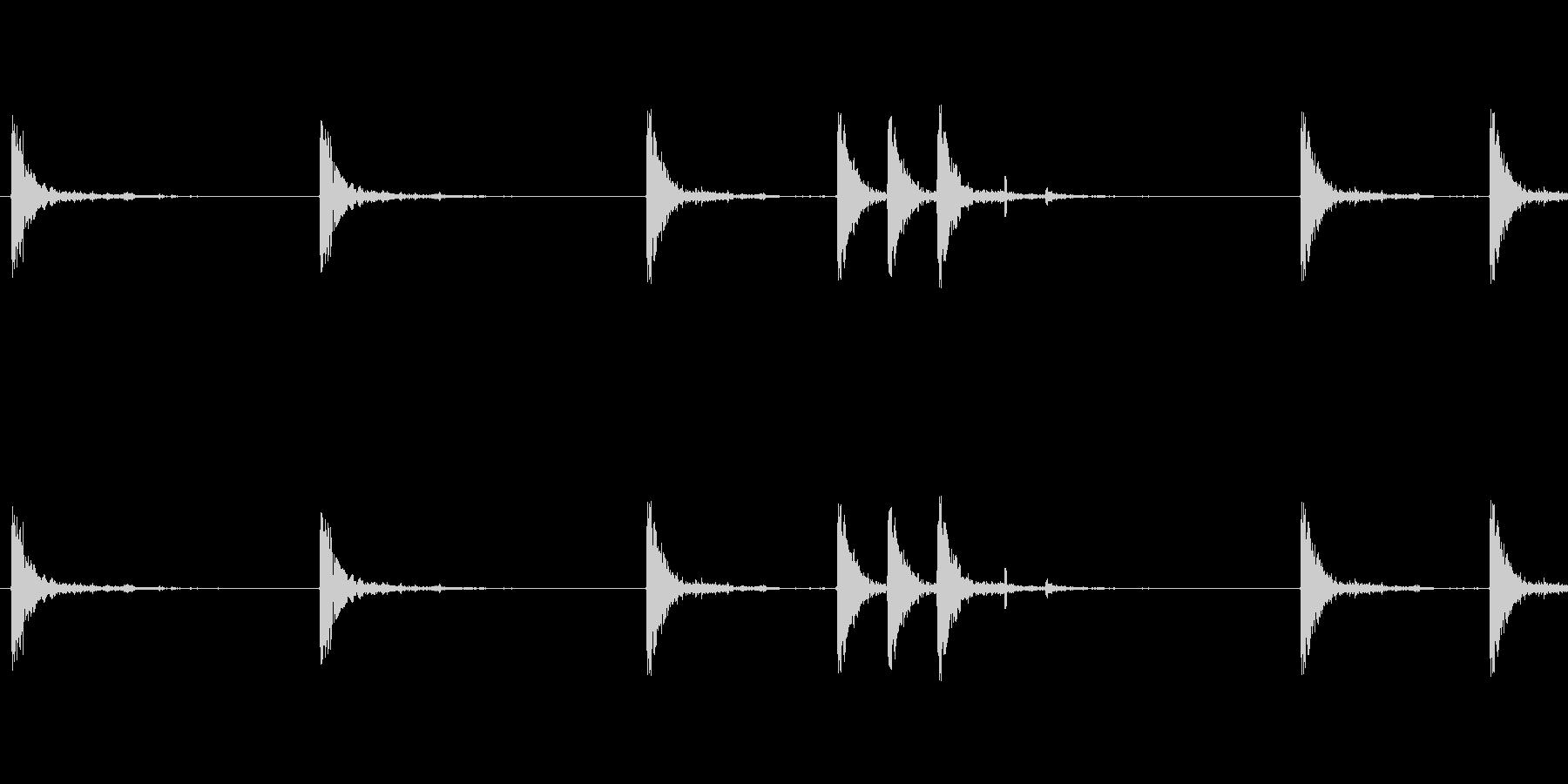 銃の音 (1)の未再生の波形