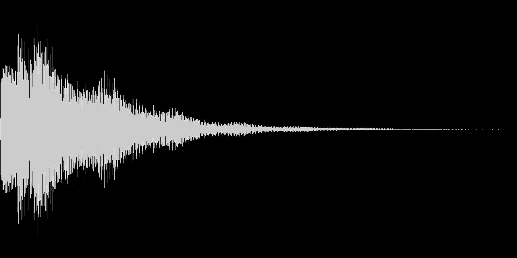 華やかなゲームの決定音の未再生の波形