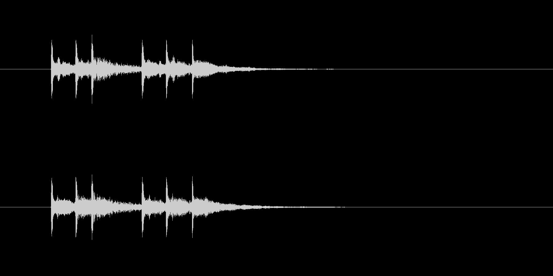 電子マネー音の未再生の波形