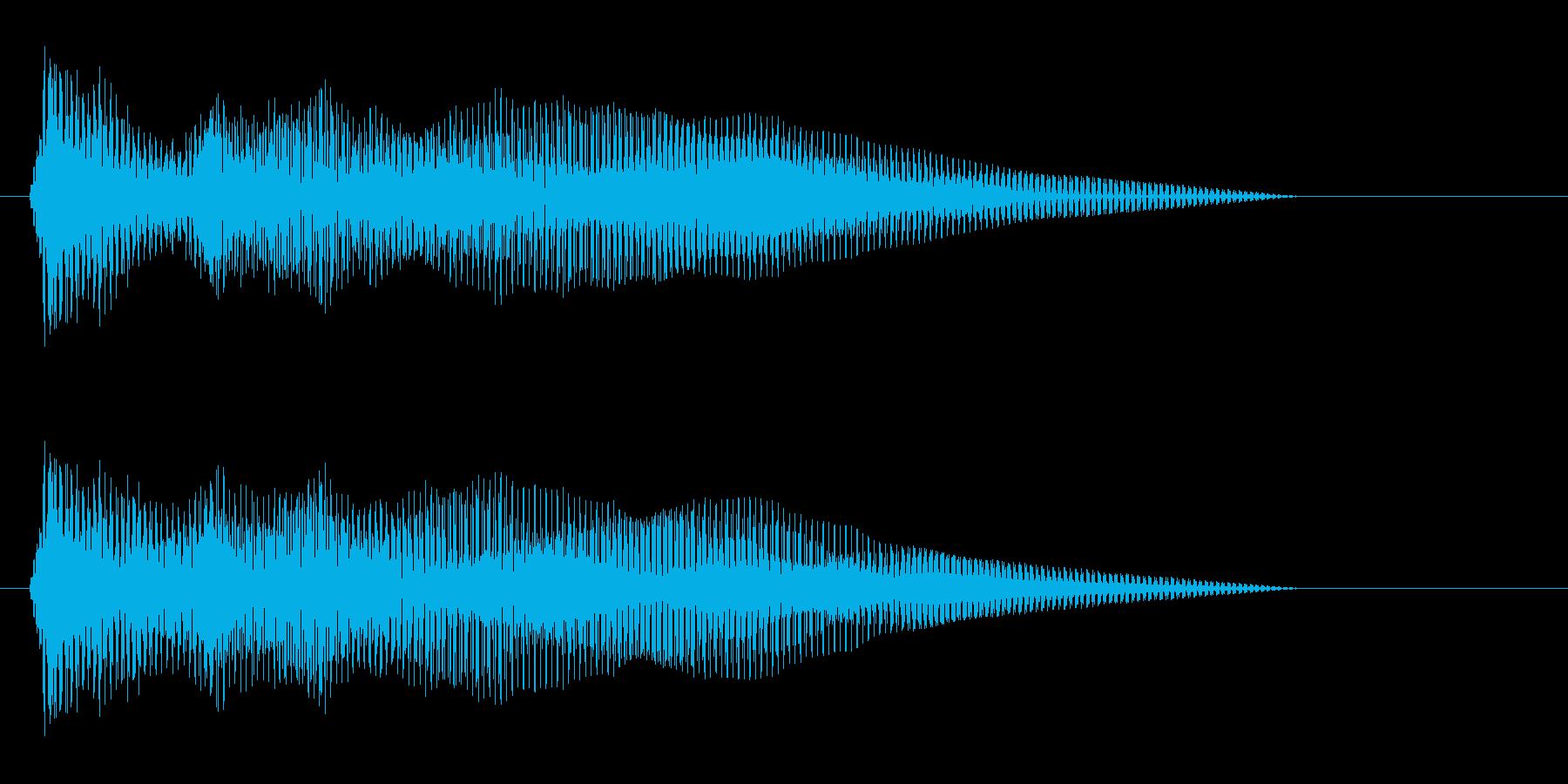 クリック音(プッシュ)の再生済みの波形