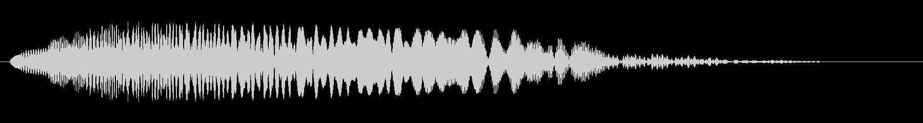 シャララ系ダウン(マリンバ)の未再生の波形