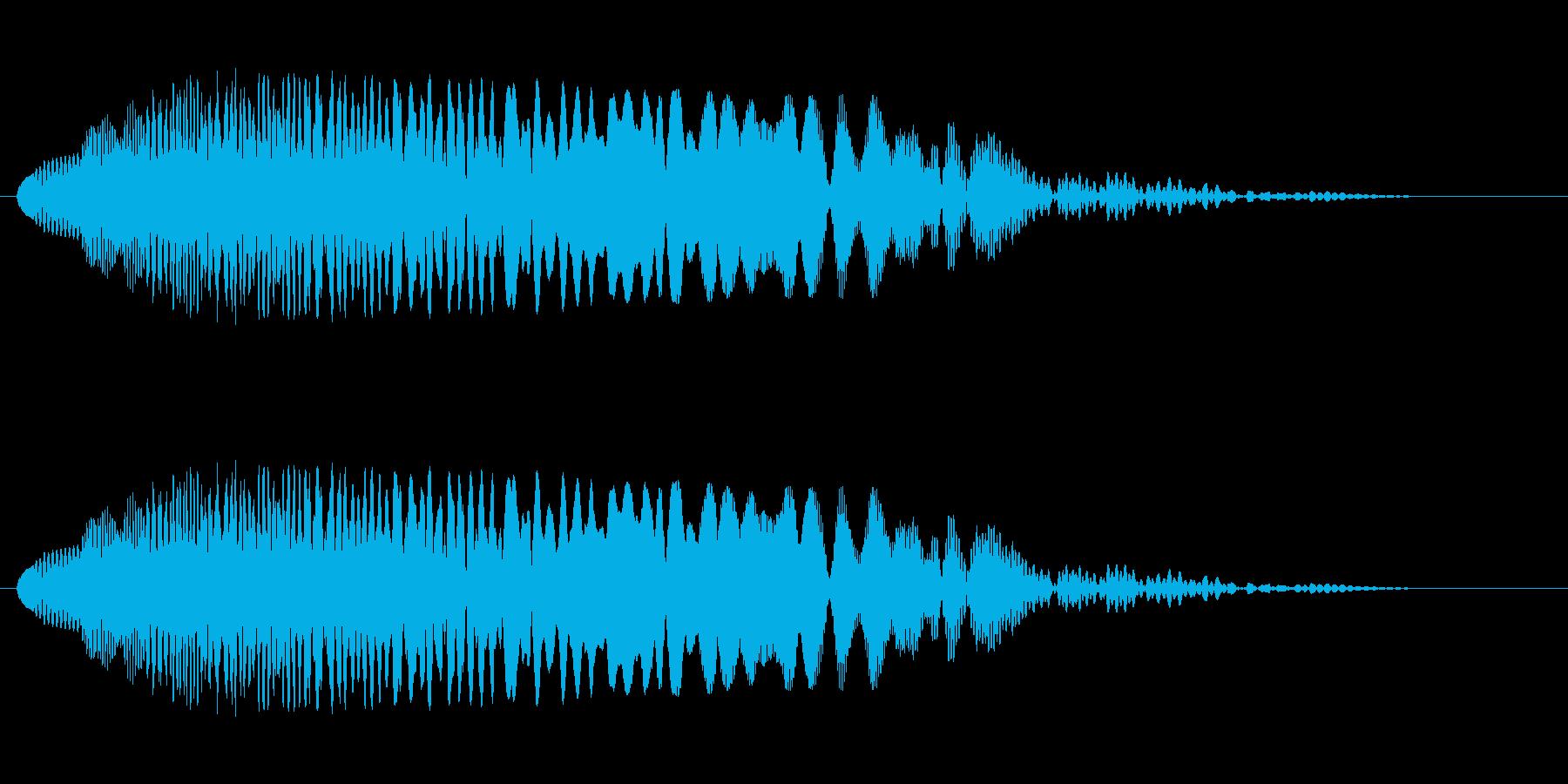 シャララ系ダウン(マリンバ)の再生済みの波形