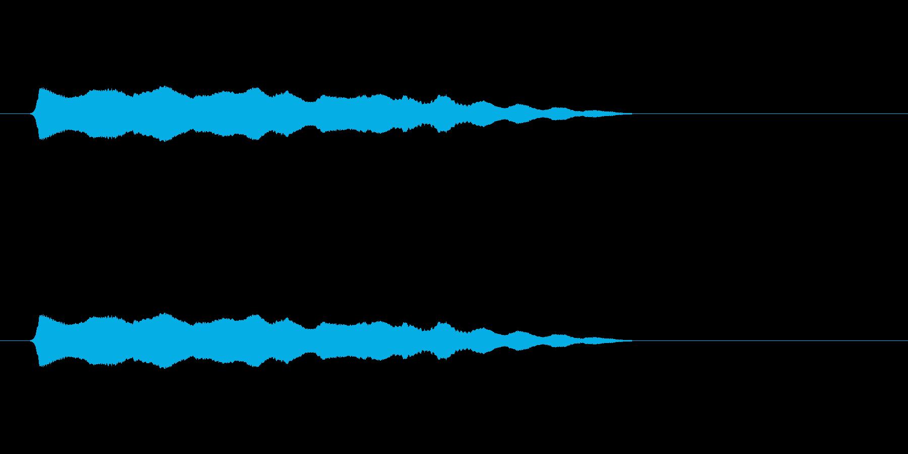ひゅ~~~(落下音、長め)の再生済みの波形