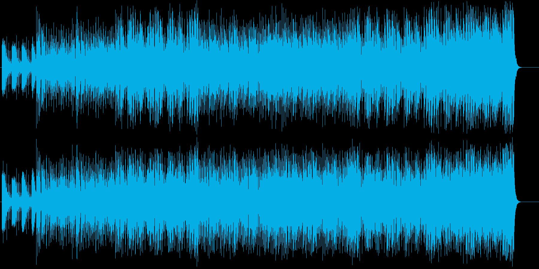 シャッフル調のアダルトなポップスの再生済みの波形