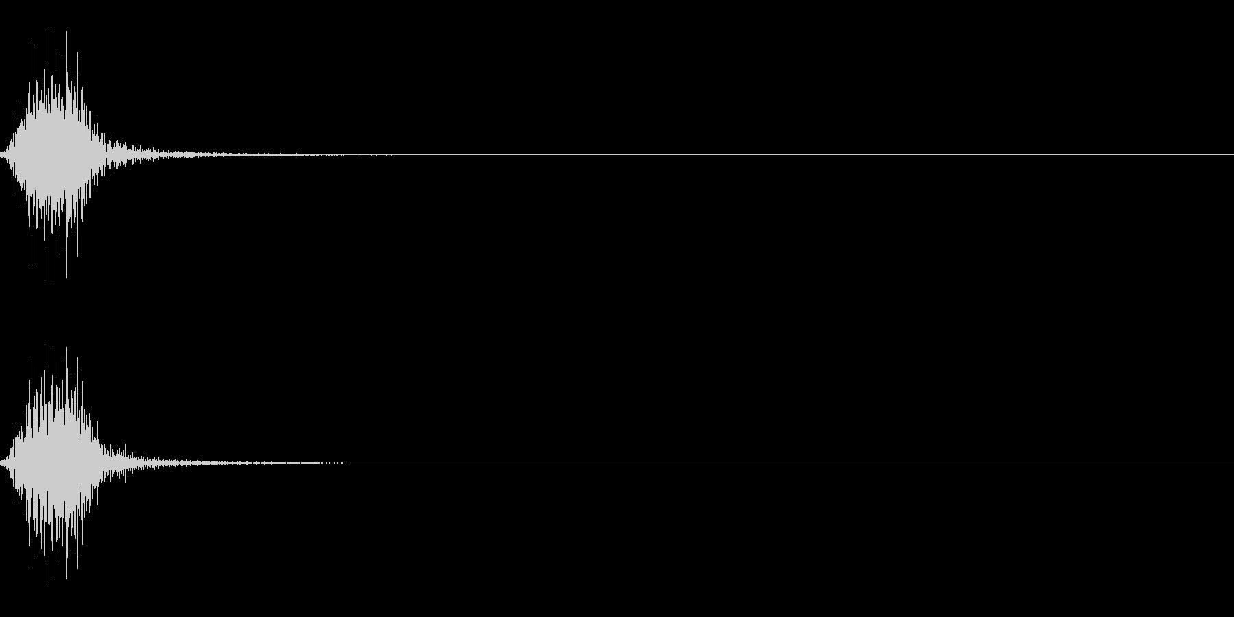 自動車のクラクション(短い)の未再生の波形