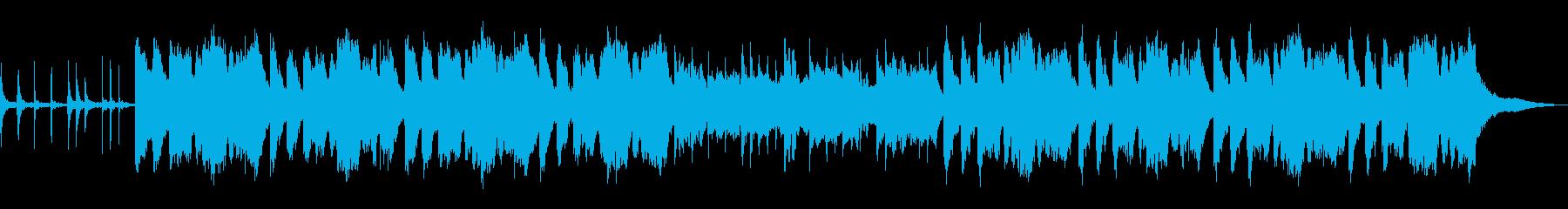 大名行列を連想させる和風行進曲の再生済みの波形