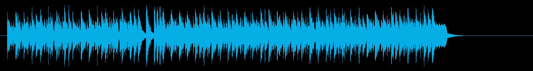 ワールド系サンバ風BGM(サビ~エンド)の再生済みの波形