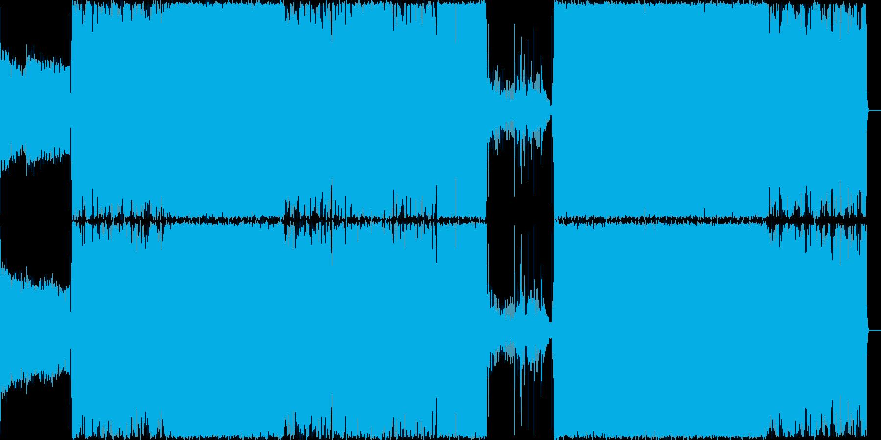 無機質でダークな不思議系BGMの再生済みの波形