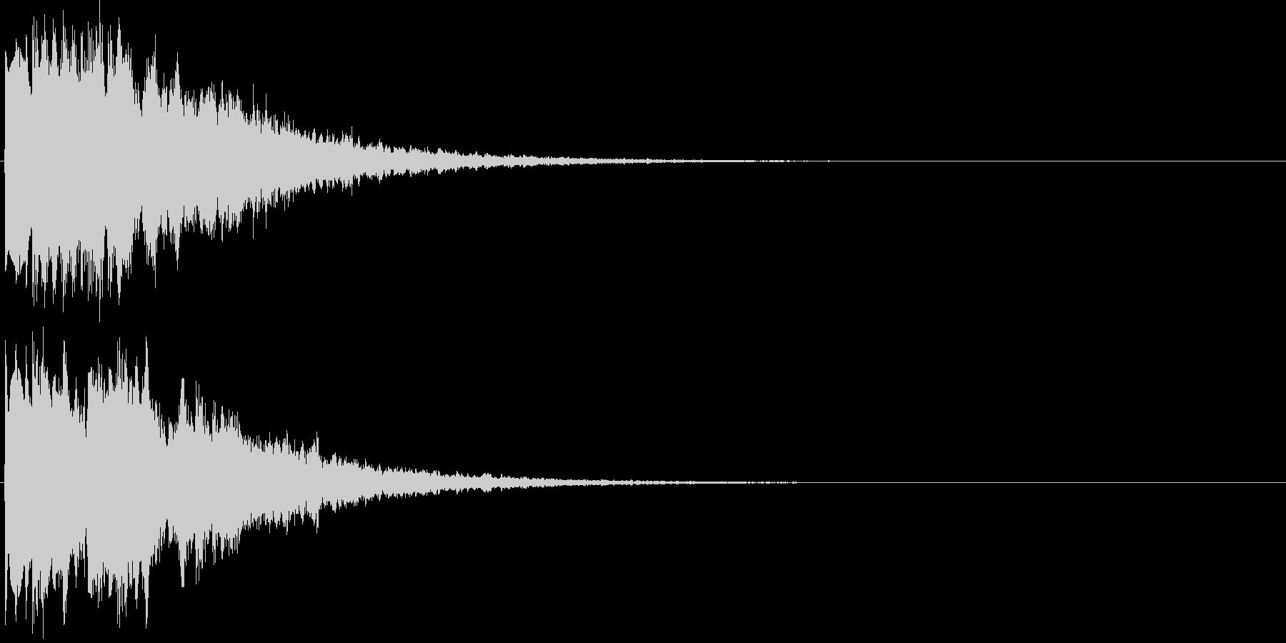 ピコピコ(決定音、ゲーム、アプリ)の未再生の波形