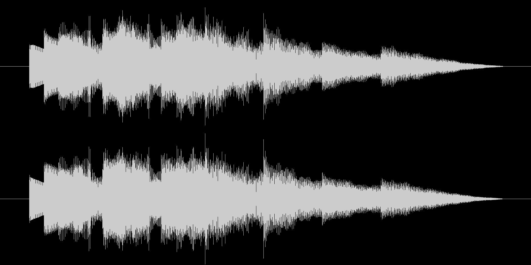 「不思議な空間のBGM」の未再生の波形
