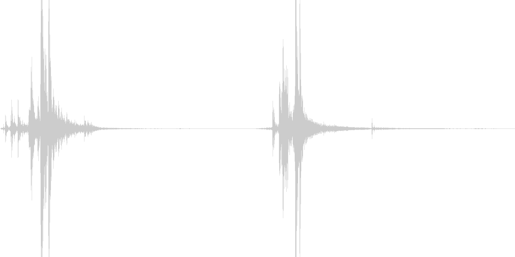 リアル系 ハンドガンリロード1 カチャの未再生の波形