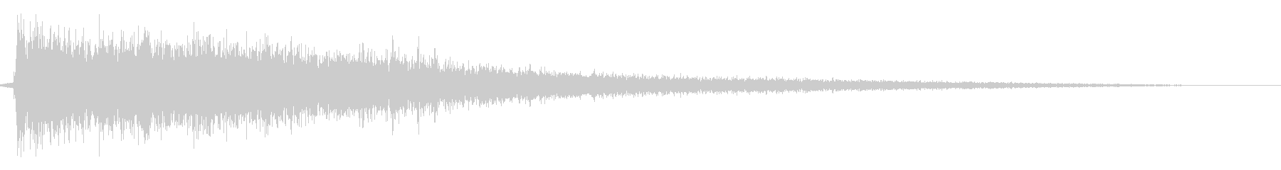 ドシーン(ロボットなどが地面に着地する)の未再生の波形