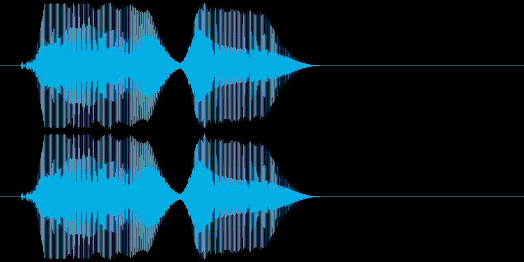 宇宙人の子供がじゃべってるような感じの…の再生済みの波形