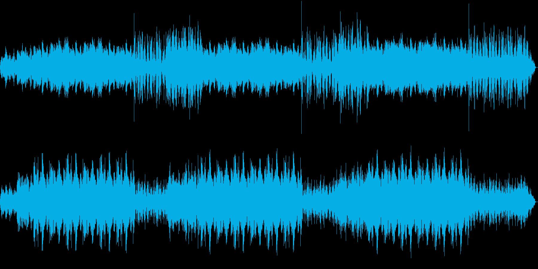 ディレイ深め、少々不思議な感じのBGMの再生済みの波形