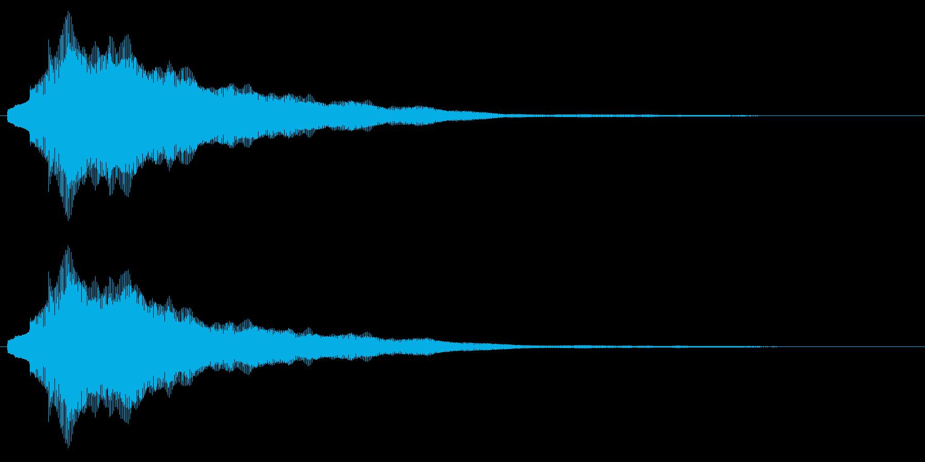 【アクセント】綺麗な決定音(長)の再生済みの波形