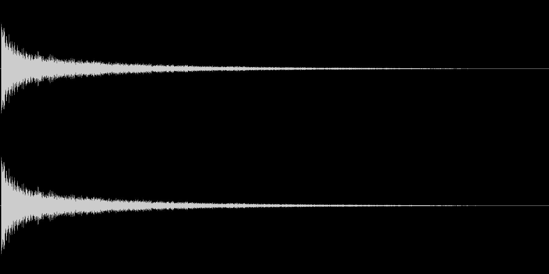 ピューン 金属調の落下音の未再生の波形