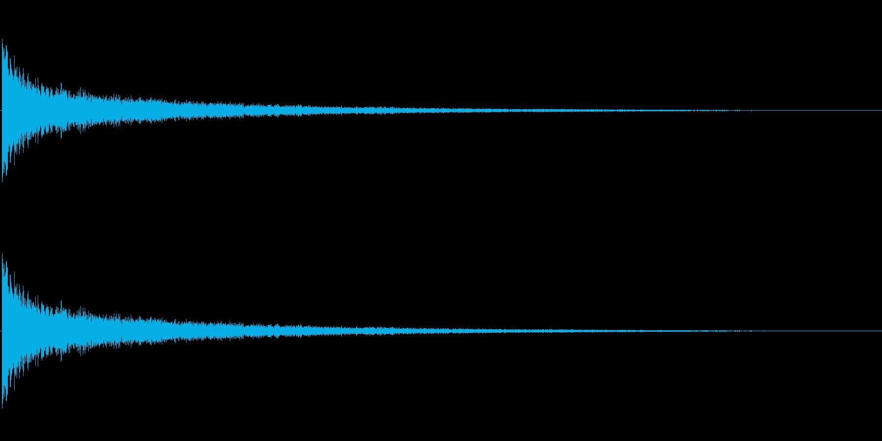 ピューン 金属調の落下音の再生済みの波形