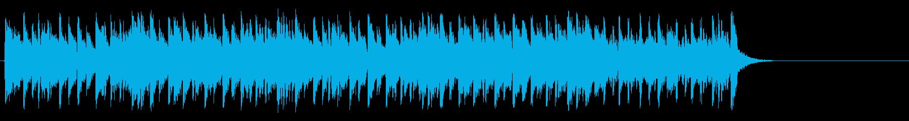軽やかなフュージョン(サビ~イントロ)の再生済みの波形