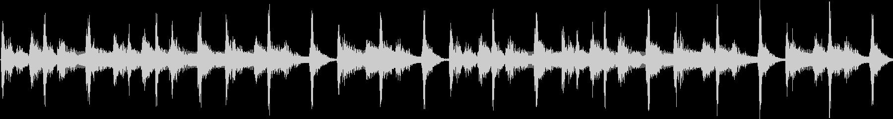 レゲエ風の短いジングル(ループ)の未再生の波形