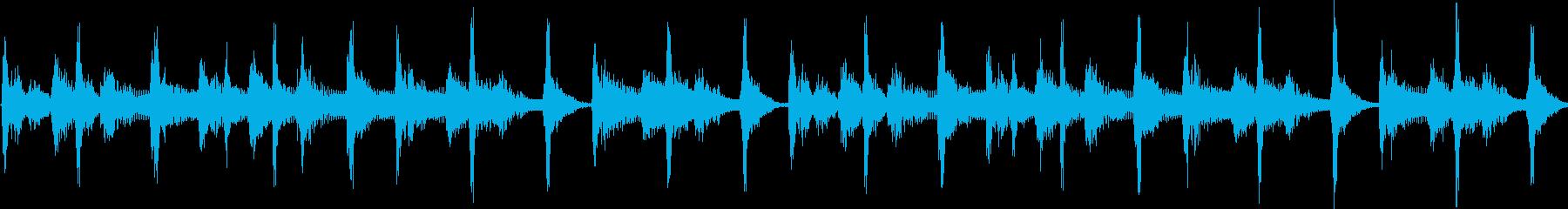 レゲエ風の短いジングル(ループ)の再生済みの波形
