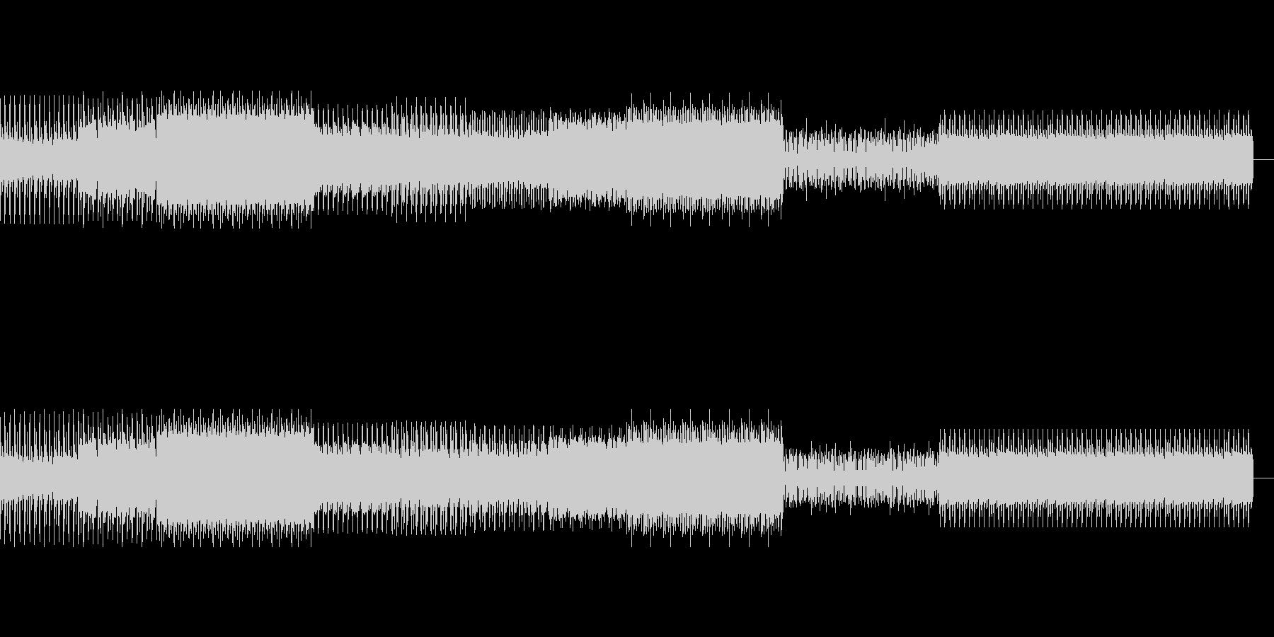 不気味なディープテクノの未再生の波形