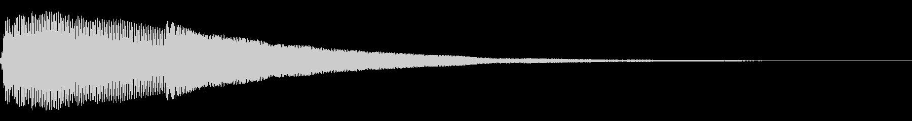 ピカーン(クリック_選択決定_01)の未再生の波形