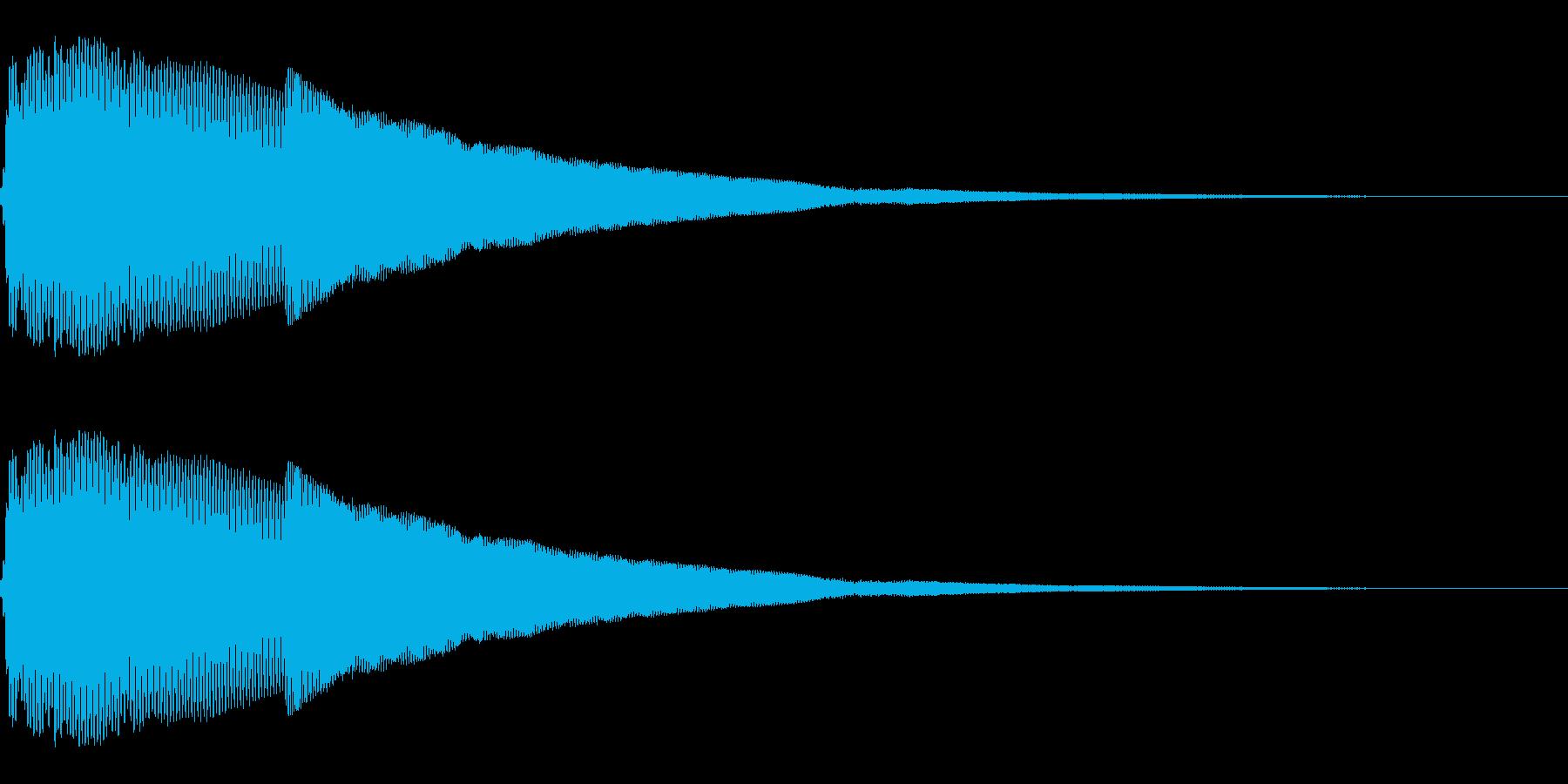 ピカーン(クリック_選択決定_01)の再生済みの波形
