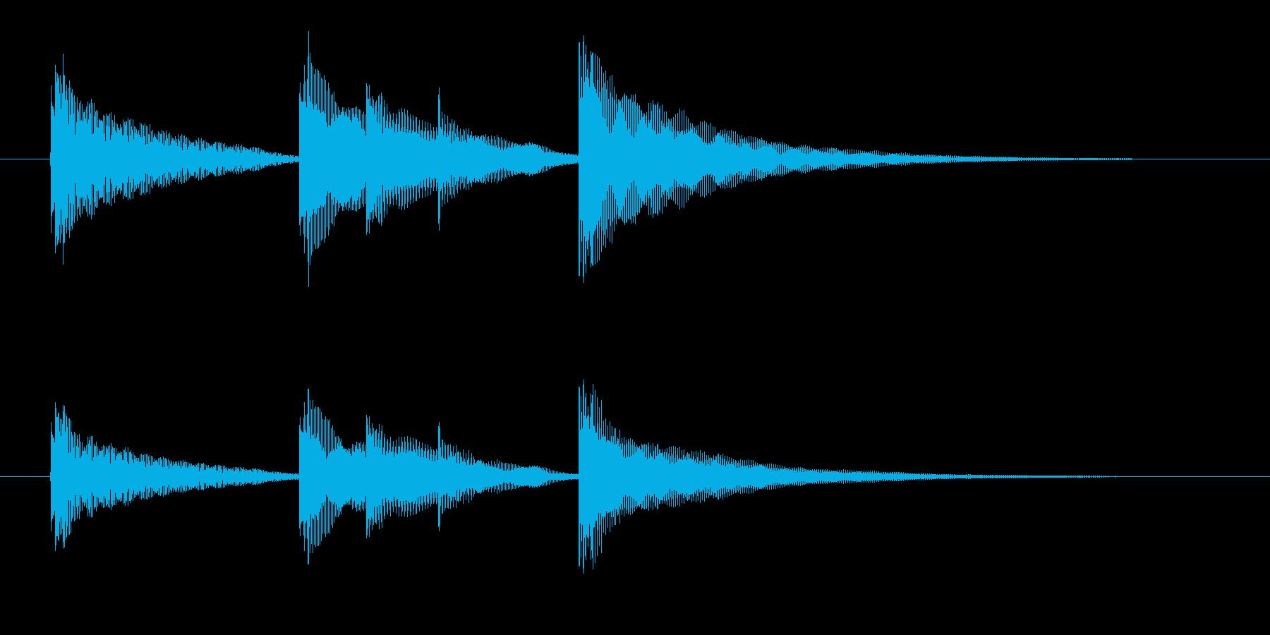 入眠オルゴールですの再生済みの波形