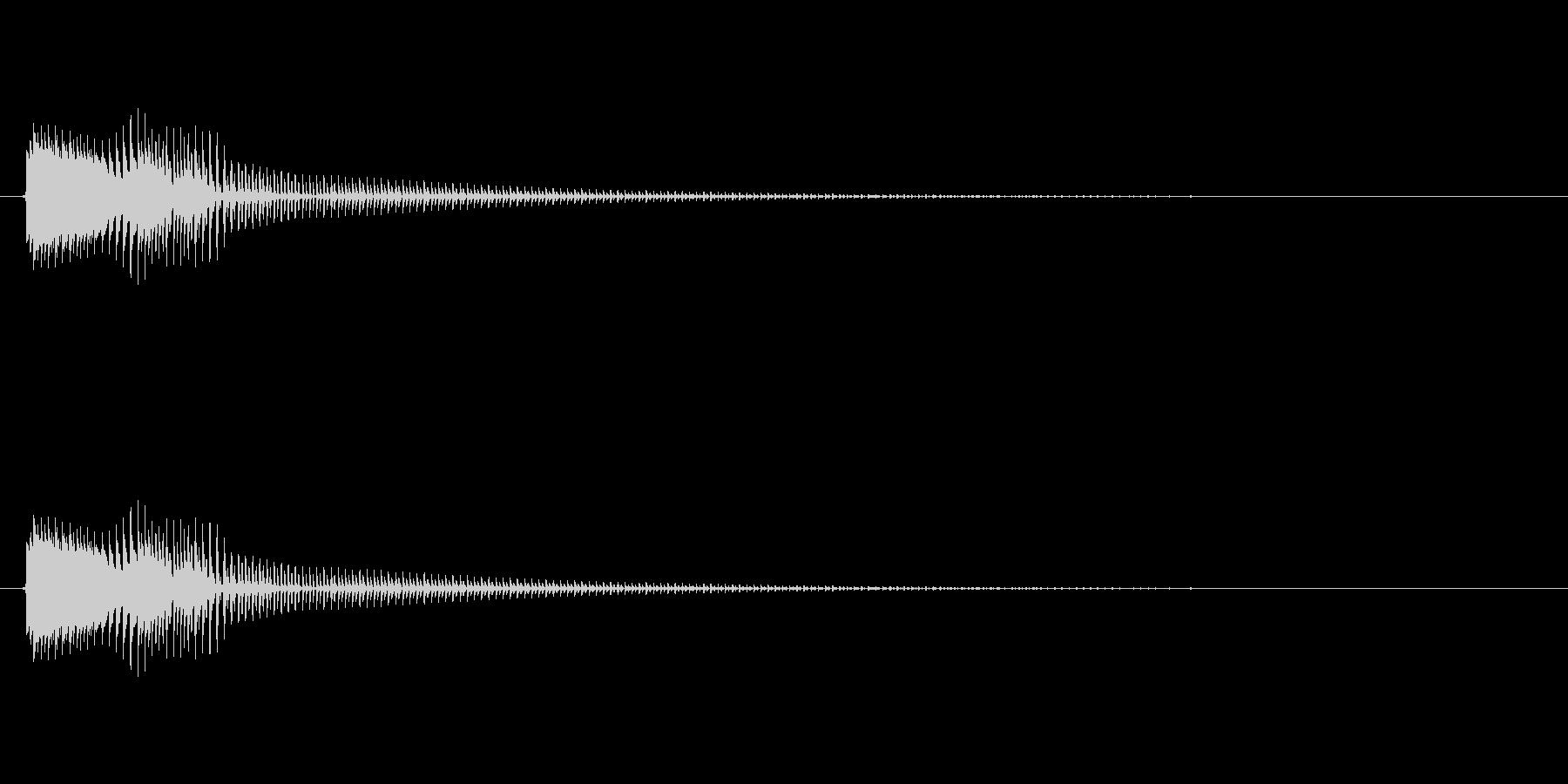 コミカルなジャンプ音 ボイン ビョン1の未再生の波形