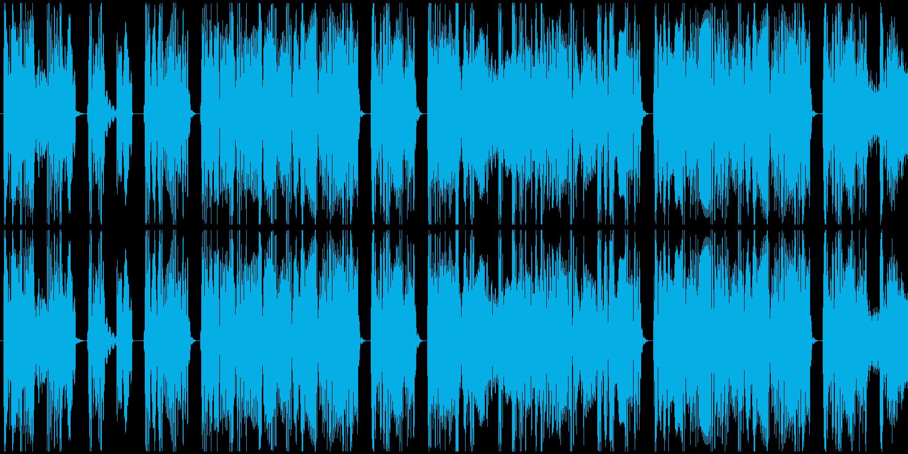 ギターとドラム、ベースだけの8秒の曲ですの再生済みの波形