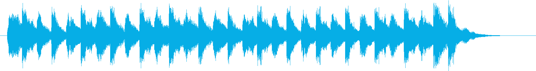 キュートで軽やかなライトオーケストラロゴの再生済みの波形