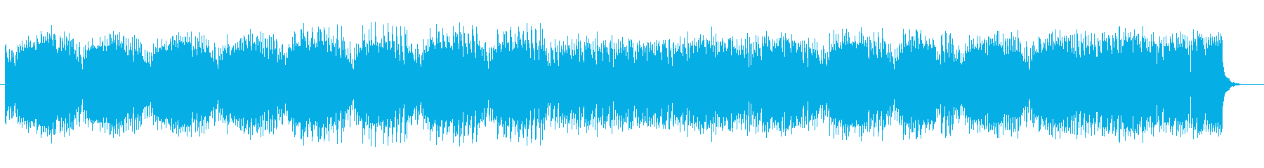 神妙なテクノミュージックの再生済みの波形