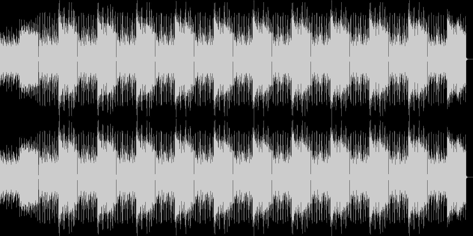 少し重めのピアノのループの未再生の波形