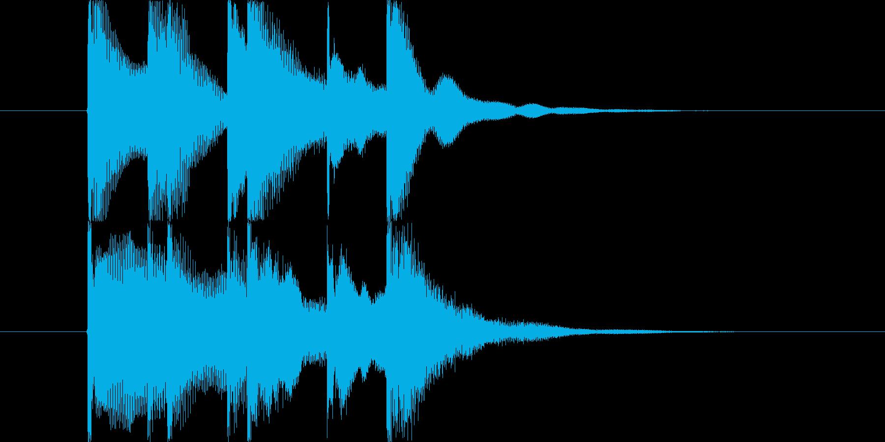 場面の転換やちょっとした間などに使用出…の再生済みの波形