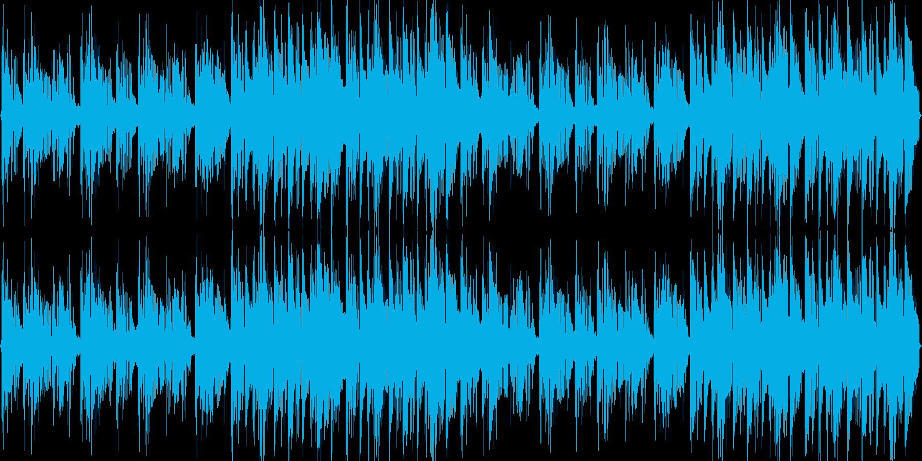 明るく軽快なゲームBGM風の再生済みの波形