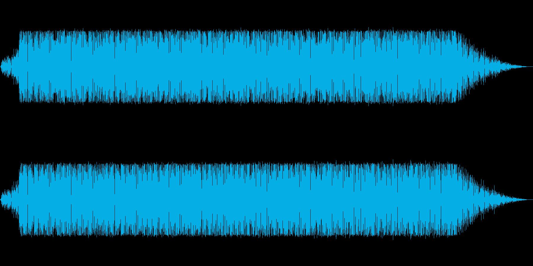 ブレイクビーツ風のフュージョンの再生済みの波形