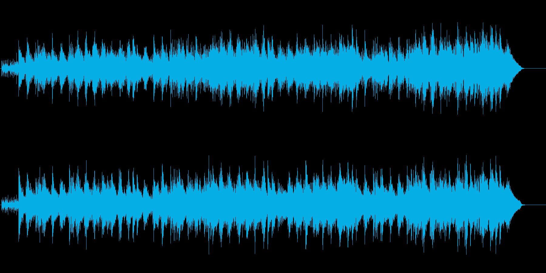 清流を感じるリラクゼーション風BGMの再生済みの波形