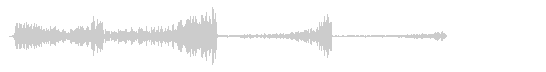 シューーン (SF系の発射音)の未再生の波形