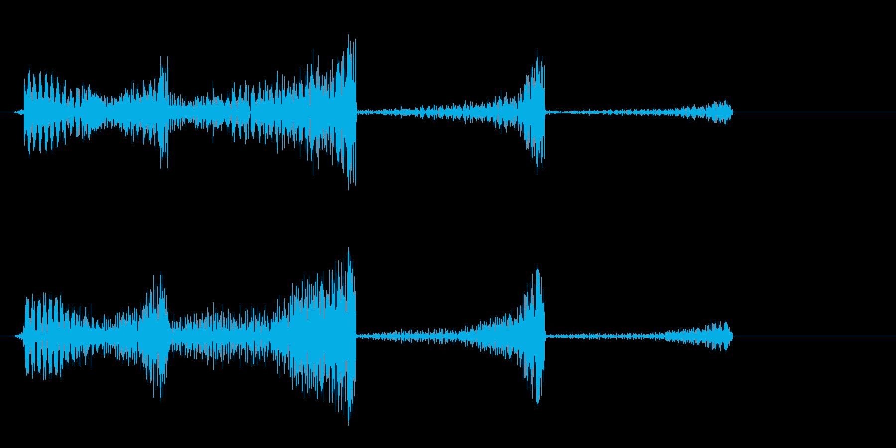 シューーン (SF系の発射音)の再生済みの波形