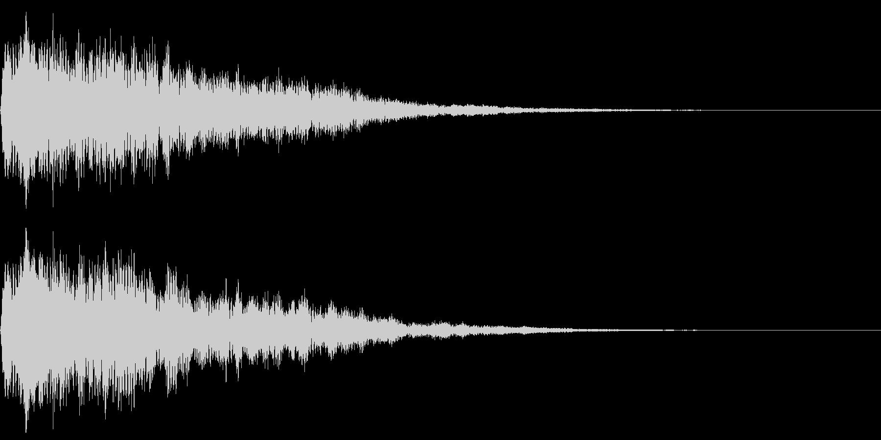 ベル、鐘(カコーン)の未再生の波形