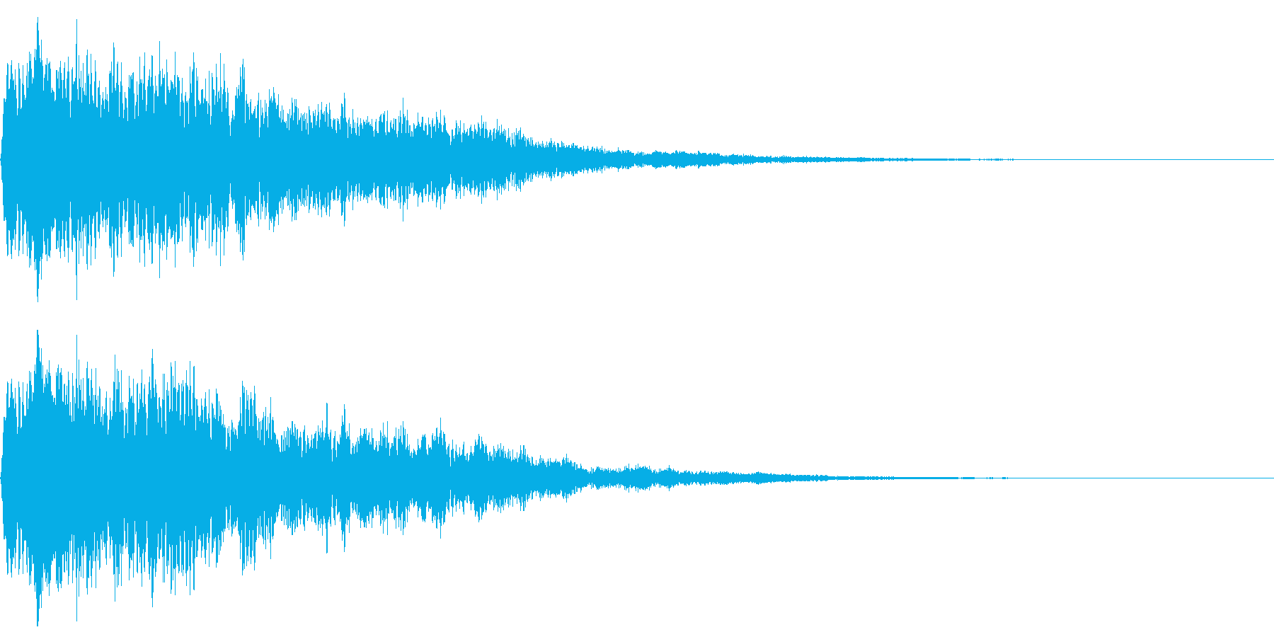 ベル、鐘(カコーン)の再生済みの波形