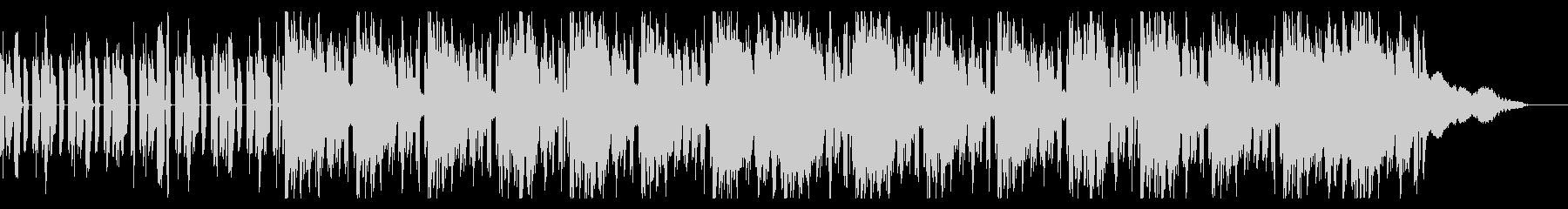 クールな映像向けのBGMの未再生の波形