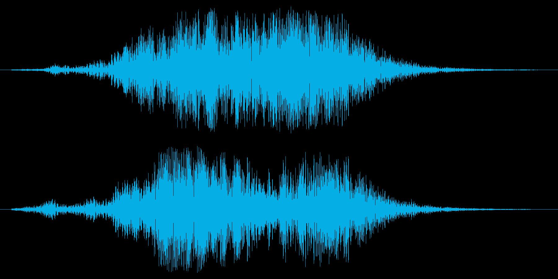 幻想的なタイトルアップ音の再生済みの波形