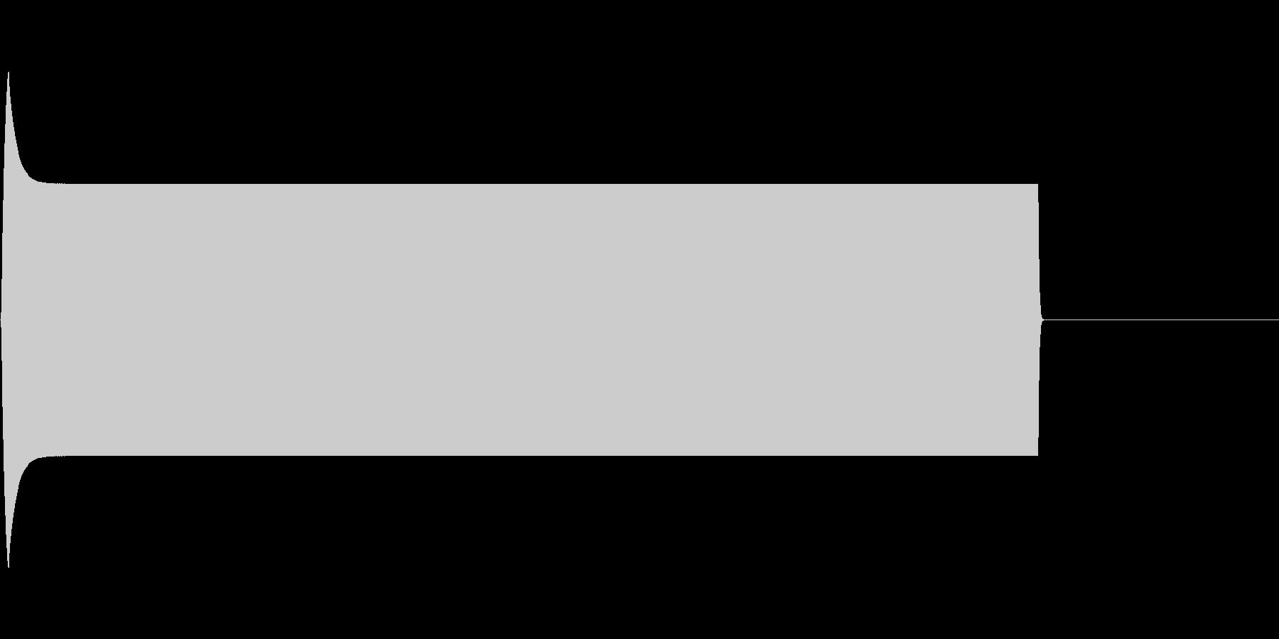 ピー音(自主規制音)の未再生の波形