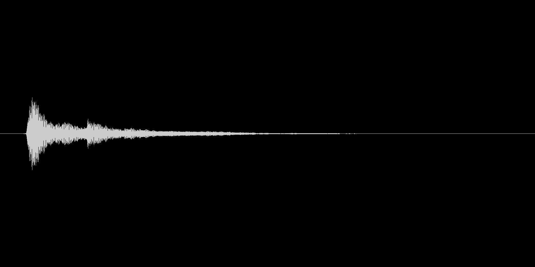 タップ.カーソル移動.クリック.決定01の未再生の波形
