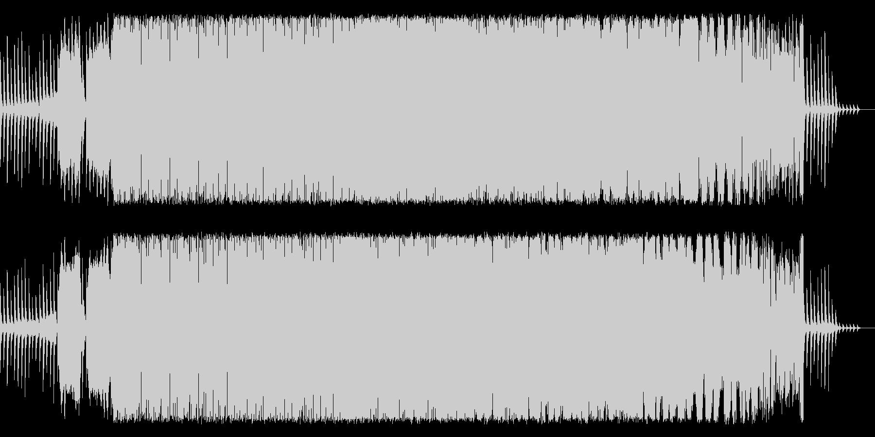 狂気、異常、ピアノ、ノイズの未再生の波形