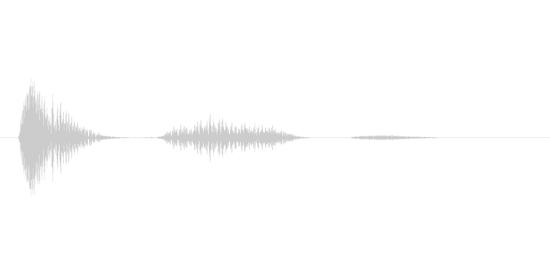 ぬぅっ!(Type-D)の未再生の波形