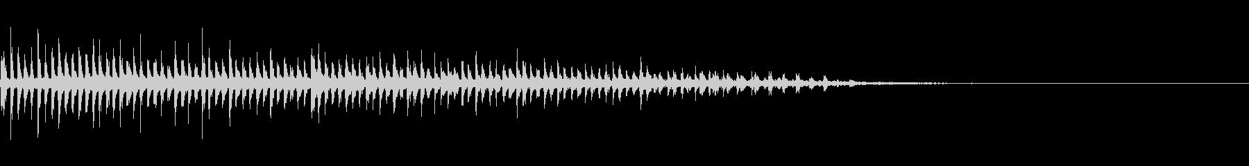 ビブラスラップの音の未再生の波形