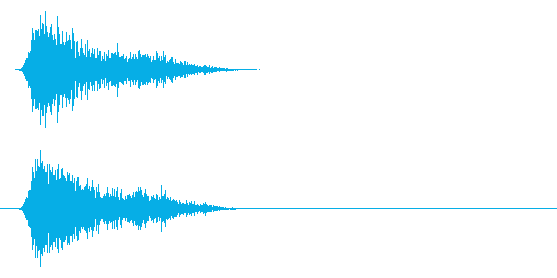 コミカルなダッシュ,ジャンプ効果音!7cの再生済みの波形
