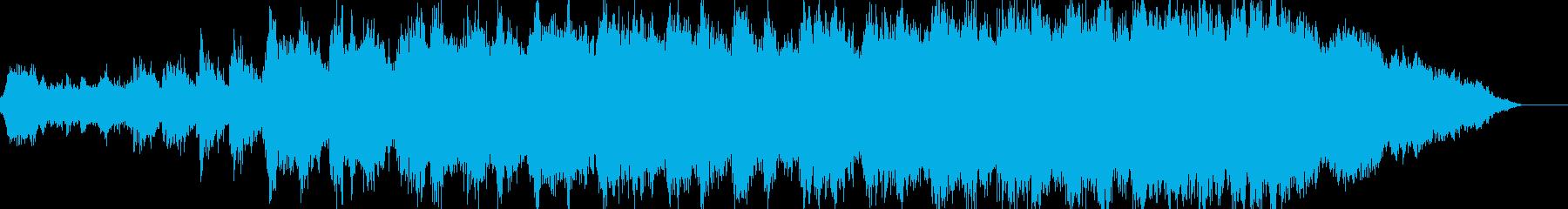 ホラー、サスペンス映像の緊迫感漂うシーンの再生済みの波形